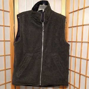 Quiksilver Jackets & Coats - Quicksilver Reversible Gray/Navy Vest sz M/L
